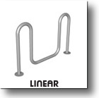 LInear Commercial Outdoor Bike Security Rack