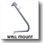 Vertical Wall Mount Commercial Outdoor Bike Security Rack