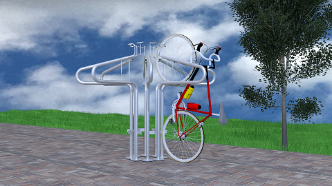 Stand Up Surface Mount - Vertical Bike Rack