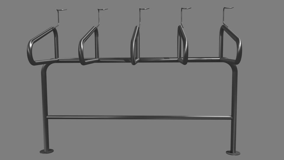Vertical Flow Bike Security Rack (Space Saver)