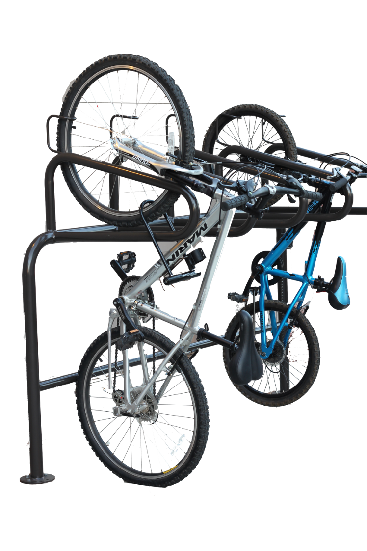 Stand Up Floor Mount Vertical Bike Parking Commercial