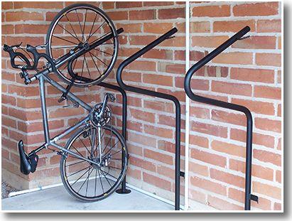 stand up floor mount vertical bike parking commercial. Black Bedroom Furniture Sets. Home Design Ideas